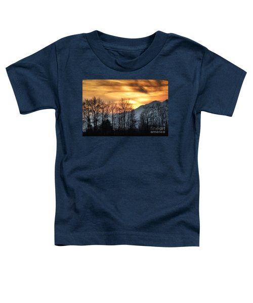 Trees With Orange Sky Toddler T-Shirt