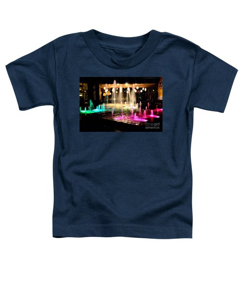 Water Fountain With Stars And Blue Green With Pink Lights Toddler T-Shirt