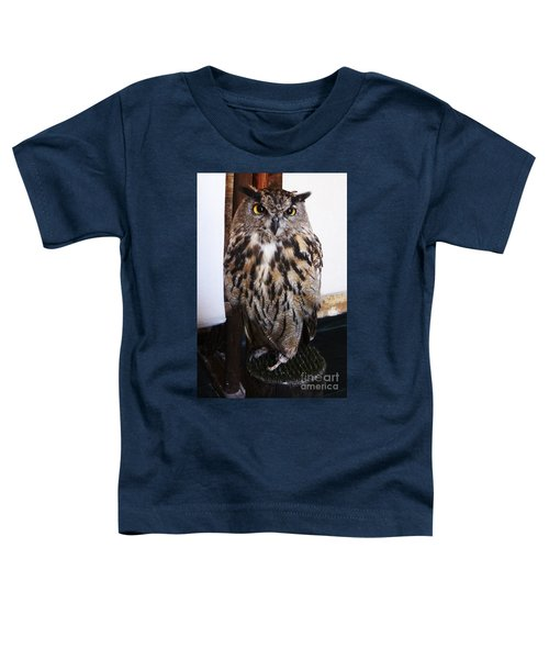 Yellow Owl Eyes Toddler T-Shirt