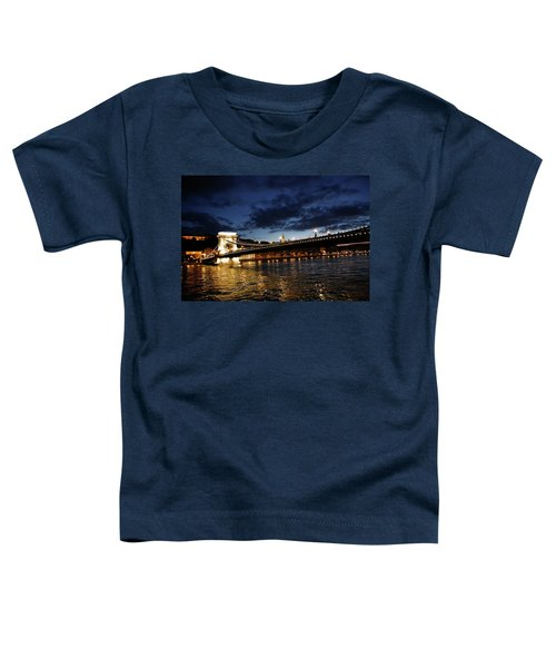 Blue Danube Sunset Budapest Toddler T-Shirt
