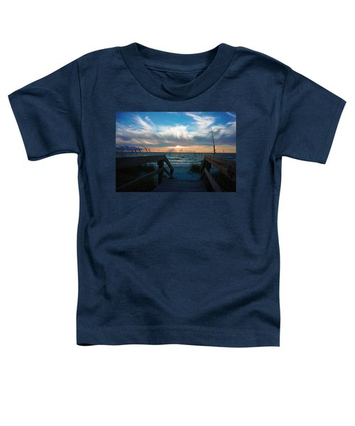 Boardwalk At Delnor-wiggins Pass State Park Toddler T-Shirt