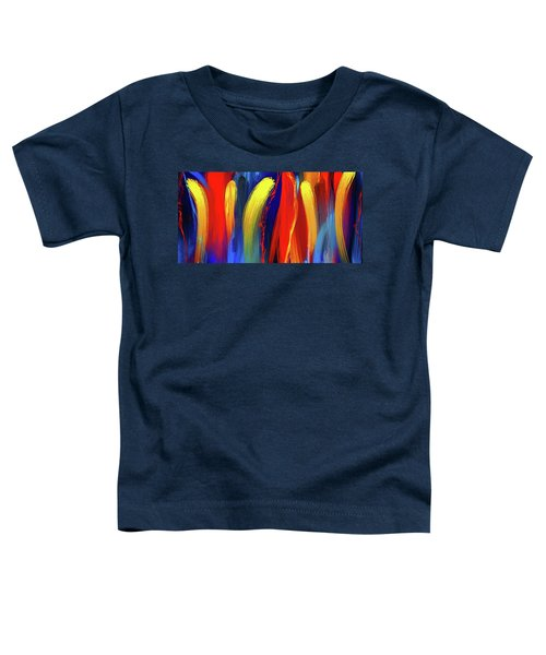 Be Bold - Primary Colors Abstract Art Toddler T-Shirt