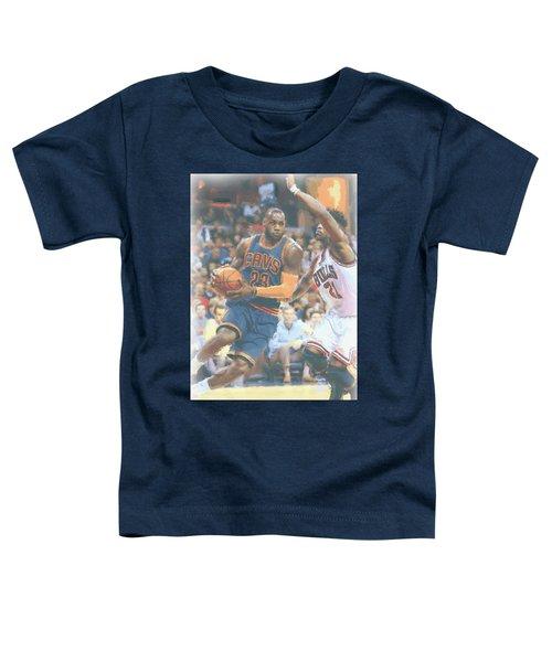 Cleveland Cavaliers Lebron James 2 Toddler T-Shirt by Joe Hamilton
