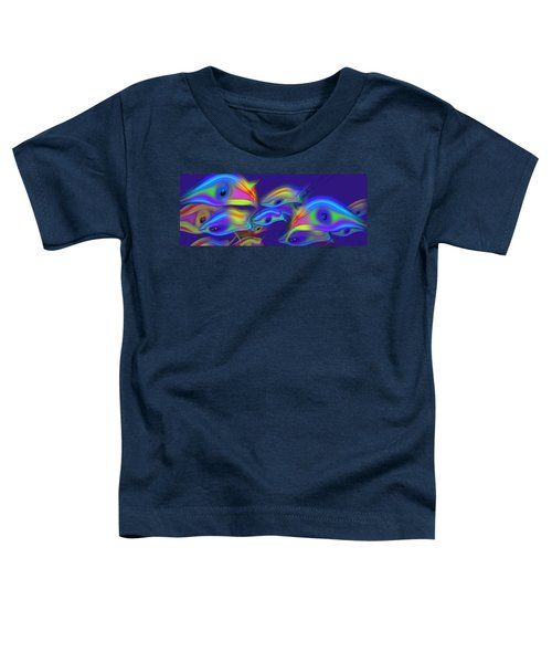 Deep Blue Marine Life Toddler T-Shirt