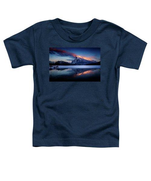 Last Light On Mount Rundle Toddler T-Shirt