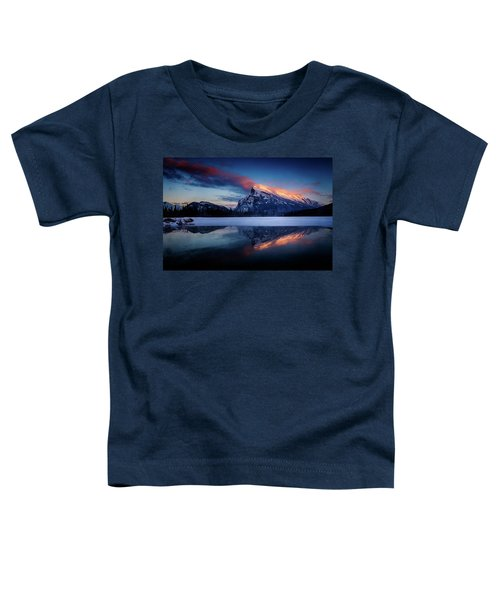 Last Light On Mount Rundle Toddler T-Shirt