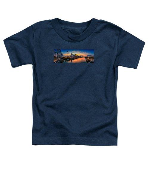 Nashville Skyline Panorama Toddler T-Shirt by Brett Engle