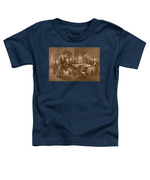 President Lincoln - His Cabinet And General Scott Toddler T-Shirt