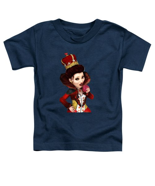 Queen Of Hearts Portrait Toddler T-Shirt
