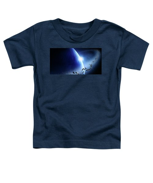 Space Junk Orbiting Earth Toddler T-Shirt