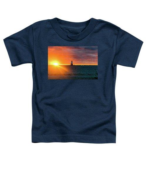 Sunset And Lighthouse Toddler T-Shirt
