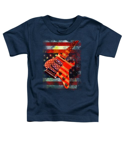 Usa Strat Guitar Music Toddler T-Shirt