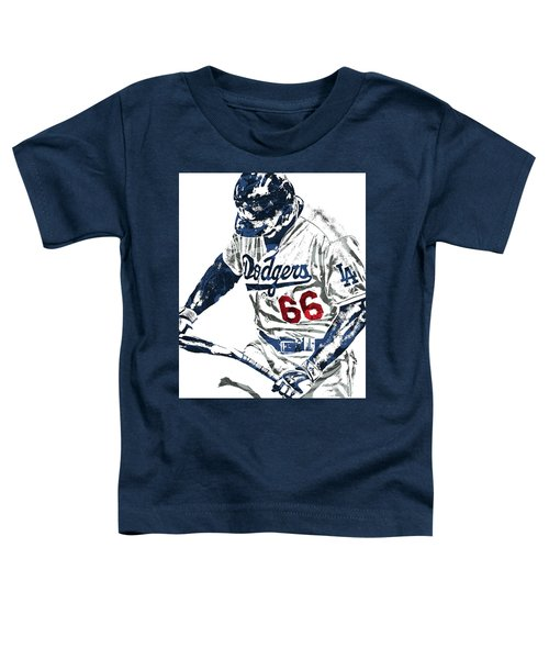 Yasiel Puig Los Angeles Dodgers Pixel Art Toddler T-Shirt