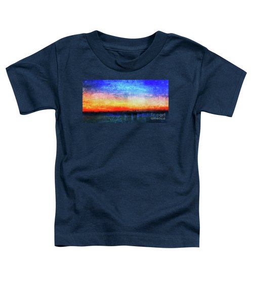 15a Abstract Seascape Sunrise Painting Digital Toddler T-Shirt