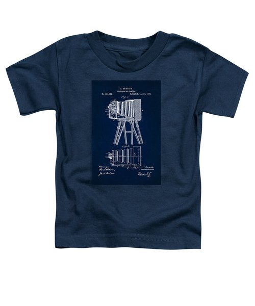 1885 Camera Us Patent Invention Drawing - Dark Blue Toddler T-Shirt