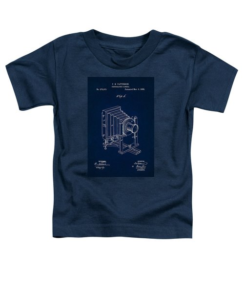 1888 Camera Us Patent Invention Drawing - Dark Blue Toddler T-Shirt