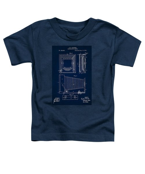 1891 Camera Us Patent Invention Drawing - Dark Blue Toddler T-Shirt
