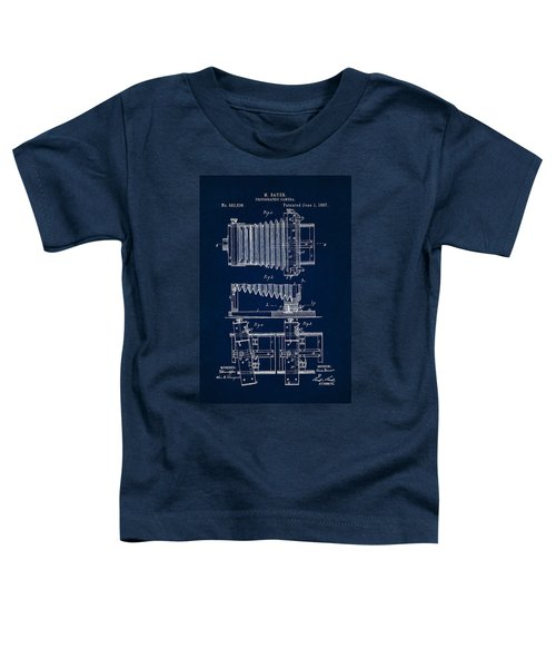 1897 Camera Us Patent Invention Drawing - Dark Blue Toddler T-Shirt