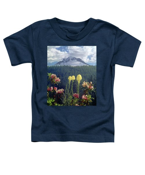 1m5101 Flowers And Mt. Hood Toddler T-Shirt