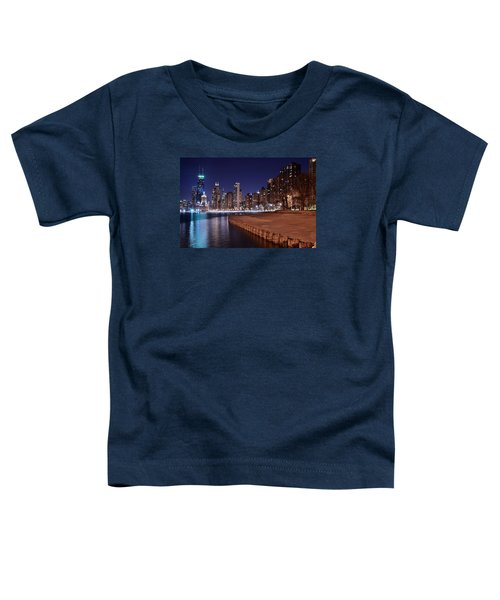Chicago From The North Toddler T-Shirt by Frozen in Time Fine Art Photography