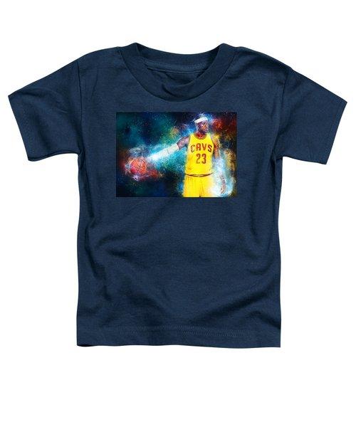 Lebron James Toddler T-Shirt by Taylan Apukovska