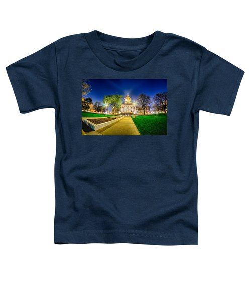 Topeka Kansas Downtown At Night Toddler T-Shirt