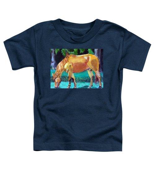 2009081315 Grazing Horse Toddler T-Shirt