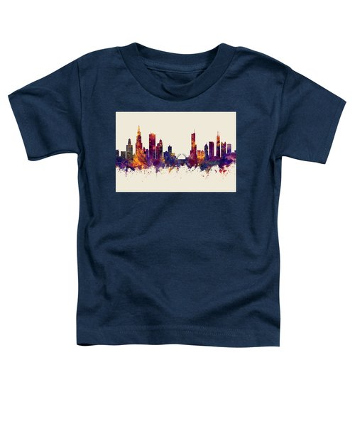 Chicago Illinois Skyline Toddler T-Shirt