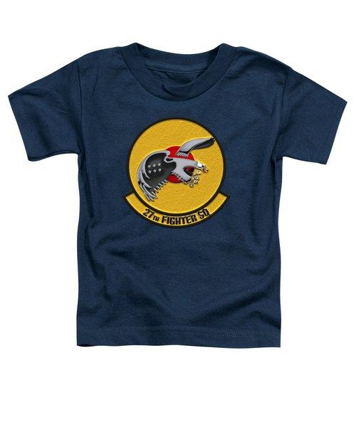 27th Fighter Squadron - 27 Fs Over Blue Velvet Toddler T-Shirt