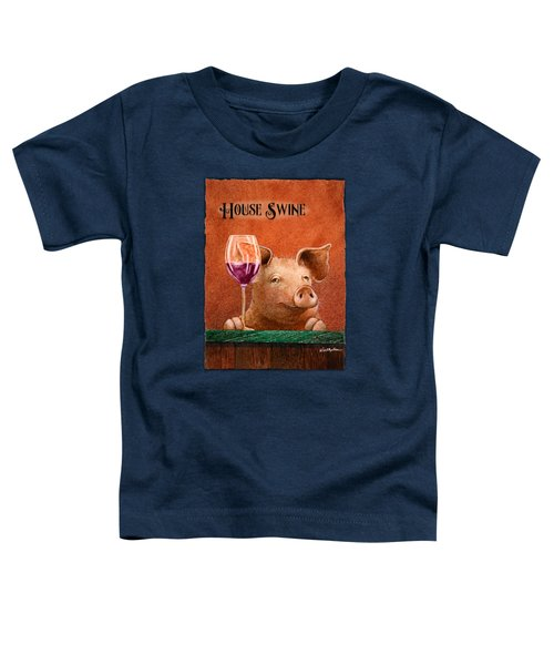 House Swine... Toddler T-Shirt by Will Bullas