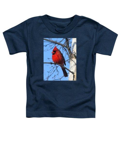 Northern Cardinal Toddler T-Shirt by Ricky L Jones