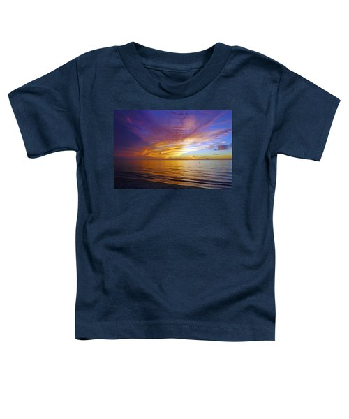 Sunset At Delnor Wiggins Pass State Park In Naples, Fl Toddler T-Shirt