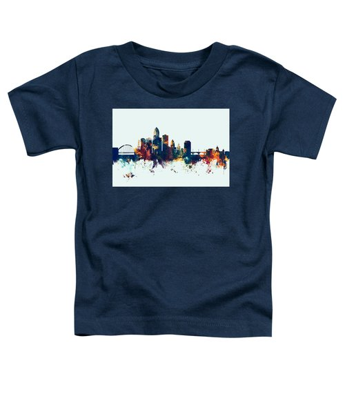 Des Moines Iowa Skyline Toddler T-Shirt