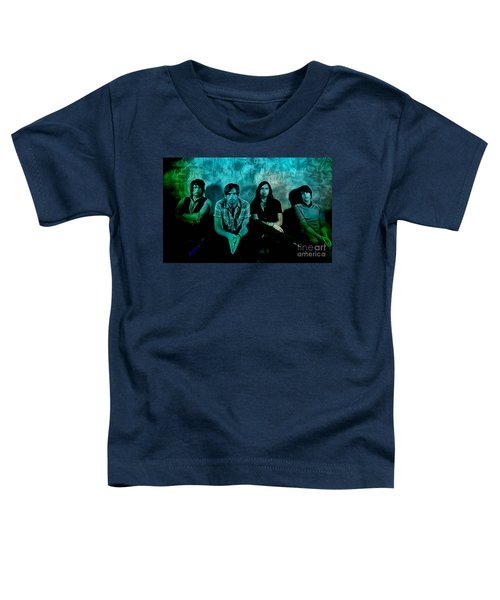 Toddler T-Shirt featuring the mixed media Kings Of Leon by Marvin Blaine