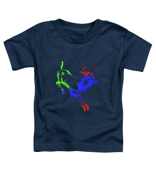 Paint Drips Toddler T-Shirt by Solomon Barroa