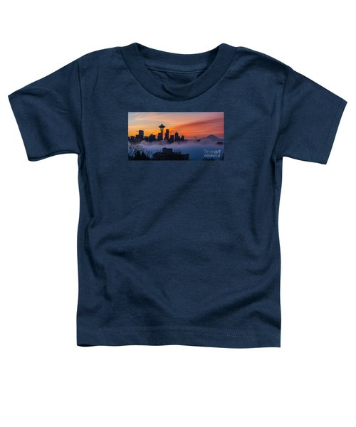A City Emerges Toddler T-Shirt by Mike Reid