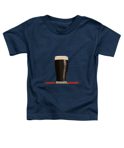 A Glass Of Stout Toddler T-Shirt by Keshava Shukla