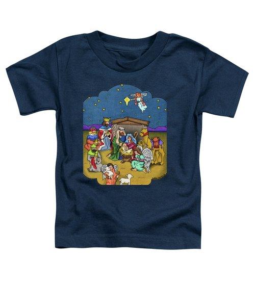 A Nativity Scene Toddler T-Shirt by Sarah Batalka