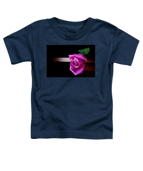 Toddler T-Shirt featuring the photograph A Single Rose by Joanne Smoley