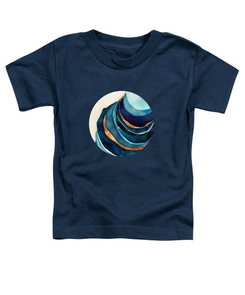 Abstract Blue With Gold Toddler T-Shirt