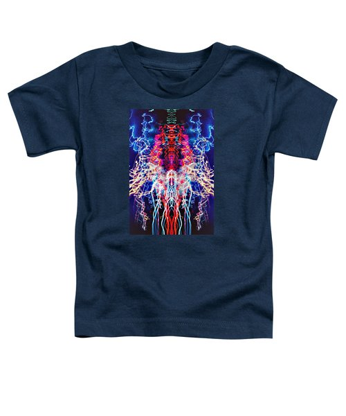 Abstract Lightpainting Oil Style Unique Poster Image Toddler T-Shirt