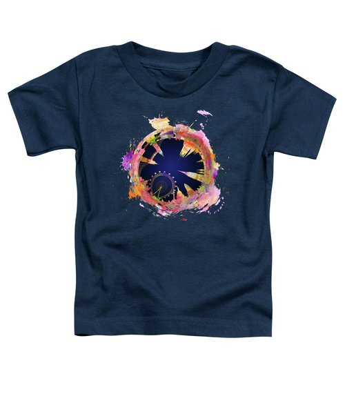 Abstract London Skyline At Night Toddler T-Shirt