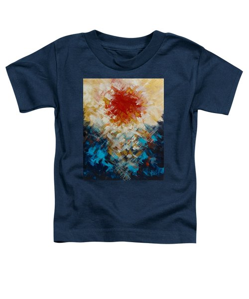 Abstract Blood Moon Toddler T-Shirt