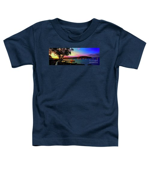 Acadia Bar Harbor Sunset Cruises.tif Toddler T-Shirt
