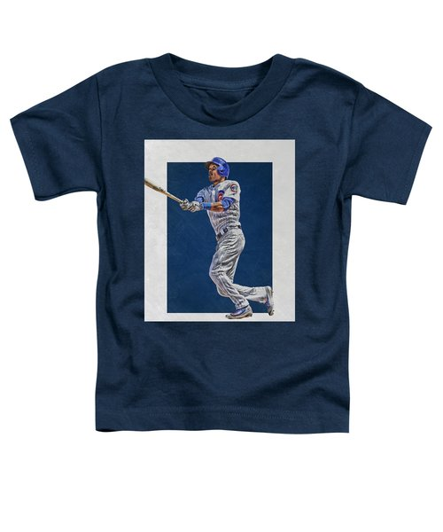 Addison Russell Chicago Cubs Art Toddler T-Shirt