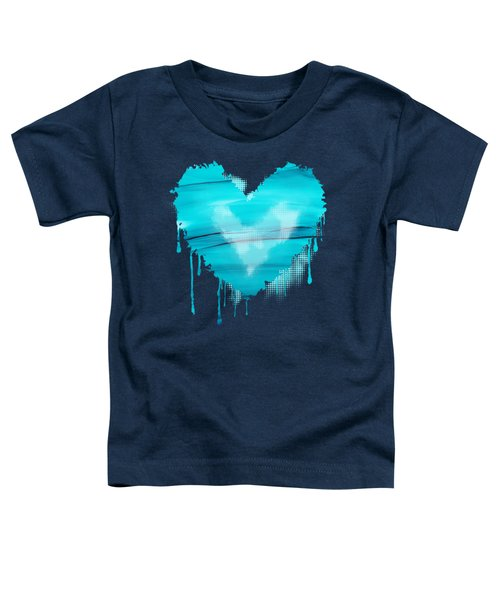 Adrift In A Sea Of Blues Abstract Toddler T-Shirt