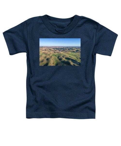aerial view of Nebraska Sand Hills  Toddler T-Shirt