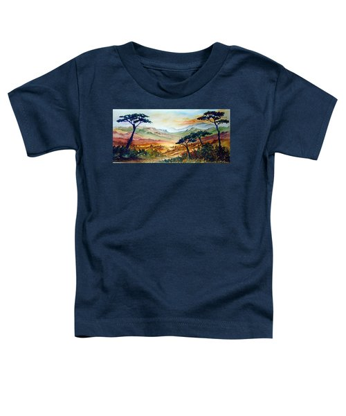 Toddler T-Shirt featuring the painting Africa by Joanne Smoley