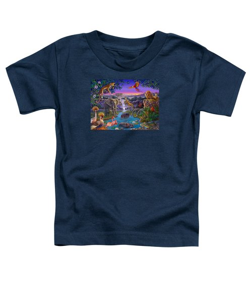 African Animals At The Water Hole Toddler T-Shirt