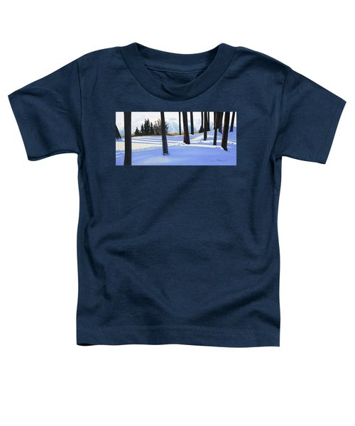 Afternoon In Snowy Mountains Toddler T-Shirt